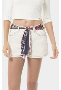 Shorts Com Faixa Removível Jeans - Lez A Lez