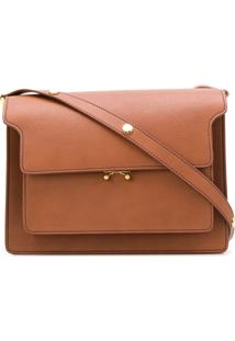Marni Trunk Shoulder Bag - Marrom