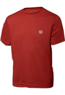 Camiseta Wilson Core Vermelha