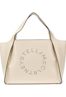 Stella Mccartney Bolsa Tote Stela Com Logo - Branco