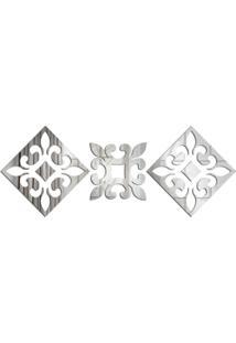 Espelho Love Decor Decorativo Kit Vintage Element ÚNico - Prata - Dafiti