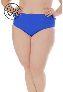 Calcinha Avulsa Hot Pant Regulável Azul Plus Size Acqua Rosa - Kanui