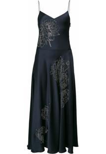 Stella Mccartney Vestido Midi Floral - Azul