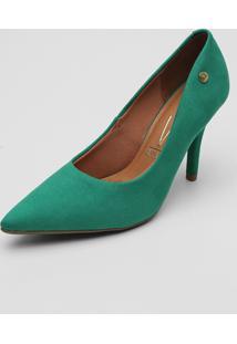 Scarpin Vizzano Suede Verde - Verde - Feminino - Dafiti
