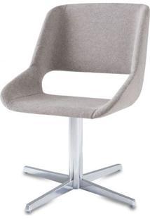 Cadeira Dife Assento Estofado Rustico Cru Base Fixa Em Aluminio - 55881 Sun House