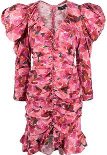 Isabel Marant Vestido Mireya Com Estampa Floral - Vermelho
