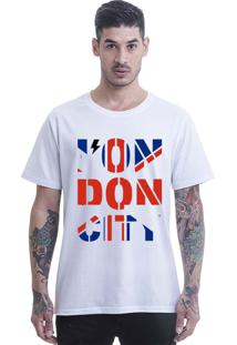 Camiseta Longline Blast Fit Branco London