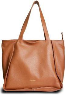 Bolsa Costtano Shopping Bag Feminina - Feminino-Caramelo