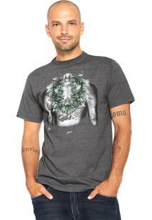 Camiseta Rusty Ac Junkierider Cinza-Escuro