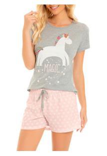 Pijama Curto Unicórnio Laibel Dreams (15.800688) Algodão