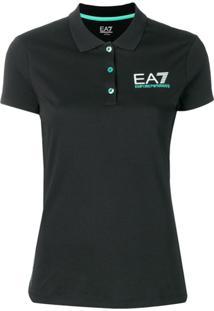 2394670451 Ir para a loja  Ea7 Emporio Armani Camisa Polo Com Logo - Preto