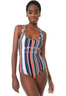 Body Hang Loose Stripes Waves Roxo/Coral