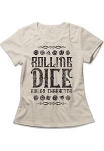 Camiseta Feminina Rolling Dice - Feminino-Mescla