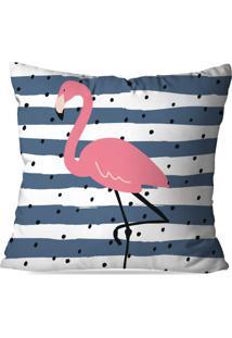 Capa De Almofada Avulsa Decorativa Stripes Flamingo 45X45Cm
