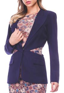 Blazer Richini Cut Out Recorte Azul