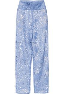 Calça Feminina Renda - Azul