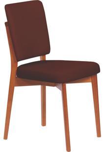 Cadeira Estofada Tramontina 14200/134 Berlim Madeira Amêndoa/Café