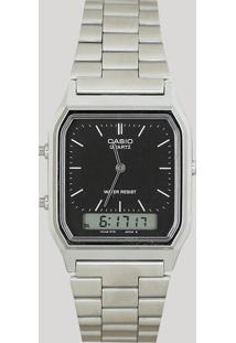 19d1691f3b0 CEA Relógio Analógico Casio Unissex - Aq230a1dmq Prateado - Único