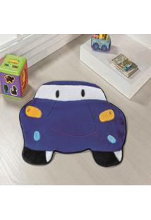 Tapete Formato Feltro Antiderrapante Carro Azul Royal - Multicolorido - Dafiti