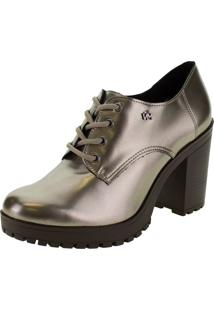 Sapato Feminino Oxford Via Marte - 203707 Cinza 34