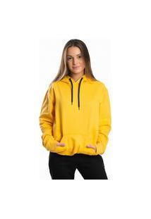 Blusa Moletom Feminino Dm Damando Amarelo