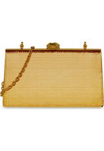 Miu Miu Bolsa Com Paetê 'Miu Solitaire' - Dourado