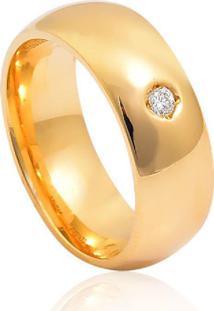 Aliança De Casamento Em Ouro 18K 6,9Mm Anatômica