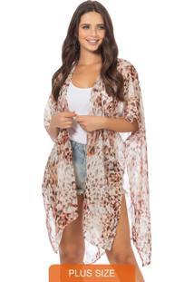 Kimono Feminino Liso Laranja