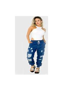 Calça Jogger Jeans Destroyed Fashion Ks Casual&Sport