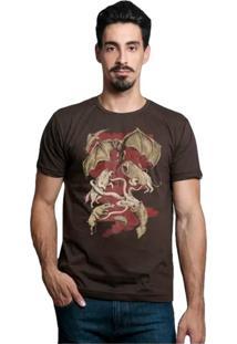 Camiseta Winter Is Coming Geek10 - Marrom
