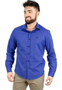 Camisa Norfolk Maquinetada Com Bordado - Masculino
