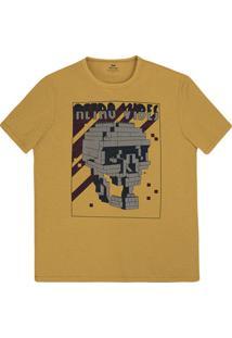 Camiseta Masculina Regular Em Algodão Com Estampa