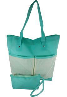 Bolsa Bag Dreams De Praia Impermeável Com Bolsos Azul