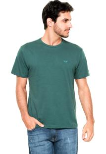 Camiseta M. Officer Bordado Verde