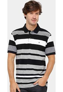 Camisa Polo Forum Piquet Listrada Masculina - Masculino