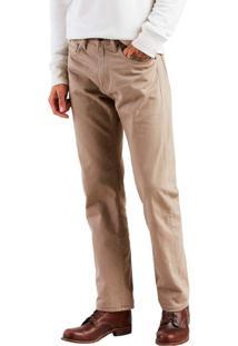 Calça Jeans Levis 505 Regular Caqui Bege