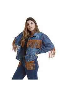 Jaqueta West Dust Bull Head Jeans Escuro
