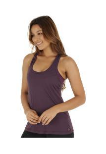 Camiseta Regata Campeão Oxer Jogging New - Feminina - Roxo Escuro