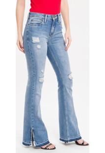 Calça Jeans Five Pockets Ckj 041 Mid Rise Flare - 36