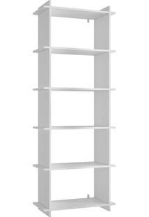 Estante Com 5 Prateleiras Encaixe Bx 02 - Brv Móveis - Branco