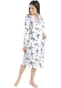 Robe Feminino De Inverno Aberto Com Bolso Floral Fiorella - Tricae