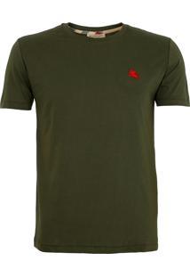Camiseta Burberry Masculina London England Verde Musgo
