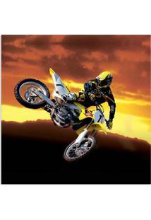 Quadro Moto Uniart Amarelo 45X45Cm