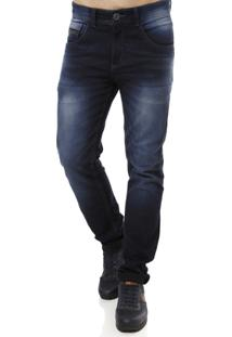 Calça Jeans Vels Masculina - Masculino-Azul