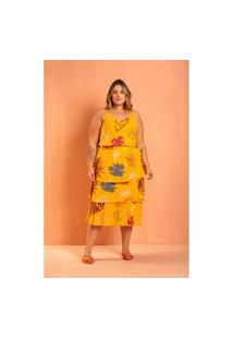 Roupas Plus Size Domenica Solazzo Conjuntos Amarelo
