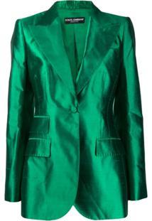 Dolce & Gabbana Balmaccan Blazer - Verde