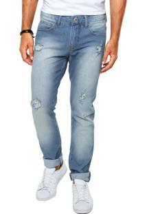 Calça Jeans Triton Estonada Puída Azul
