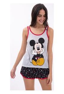 Pijama Estampa Mickey Em Material Sustentável