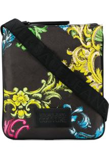 Versace Jeans Couture Baroque Print Messenger Bag - Preto