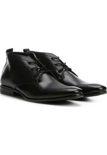 Sapato Social Couro Walkabout Cano Alto Básico Masculino - Masculino-Preto